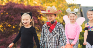 Little Cowboy trick-or-treating in Fernley, NV